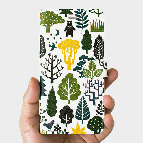 手帳型スマホケース Forest