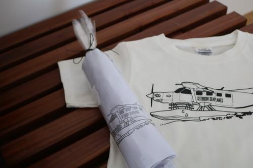 夏のおでかけセット(Tシャツ+コットンバッグ)白