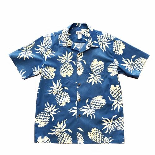 レディース&ボーイズ アロハシャツ /  Pineapple  Sax Blue