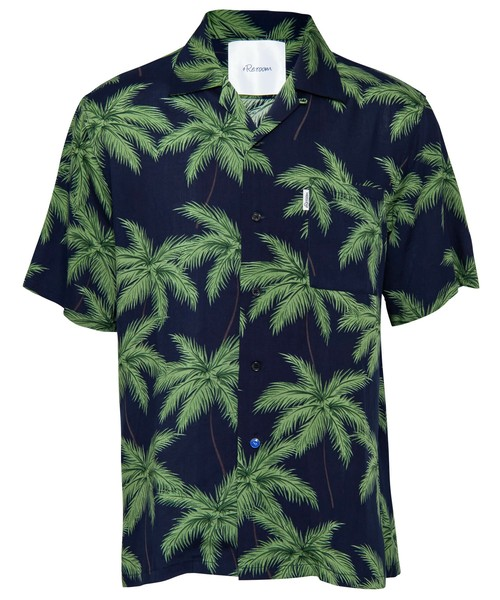 PALM TREE MESSAGE ALOHA SHIRTS[RES039]