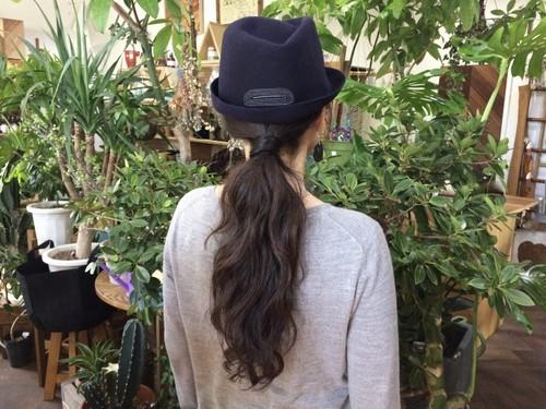 【送料無料】『mature ha.』 マチュアーハ free hat  フリーハット back stitch ネイビー