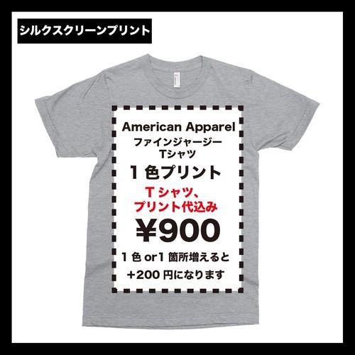 American Apparel アメリカンアパレル ファインジャージーTシャツ (品番2001W)
