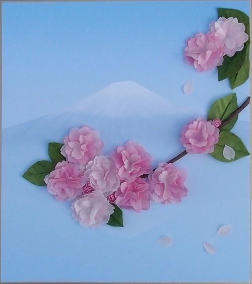 富士山と八重桜