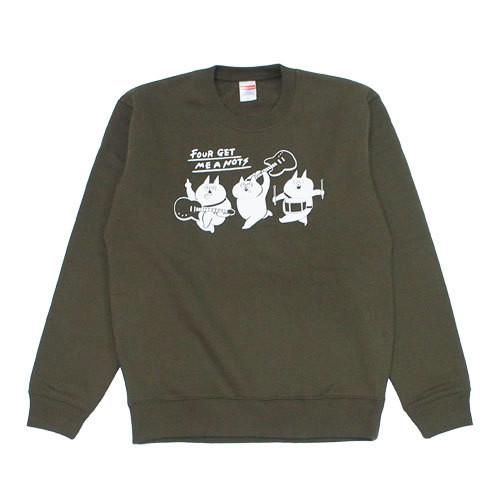 """Crazy cats"" Crew Neck Sweater Olive"