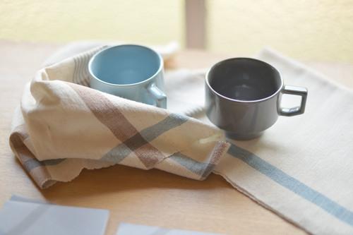 手染め・手織りのキッチンクロス