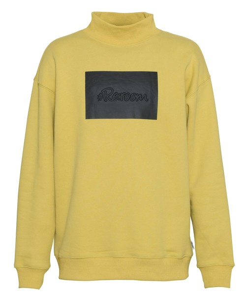 3D LOGO MOCK NECK BIG TRAINER[REC437]