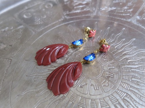 vintage pierced earrings <PE-SRD>