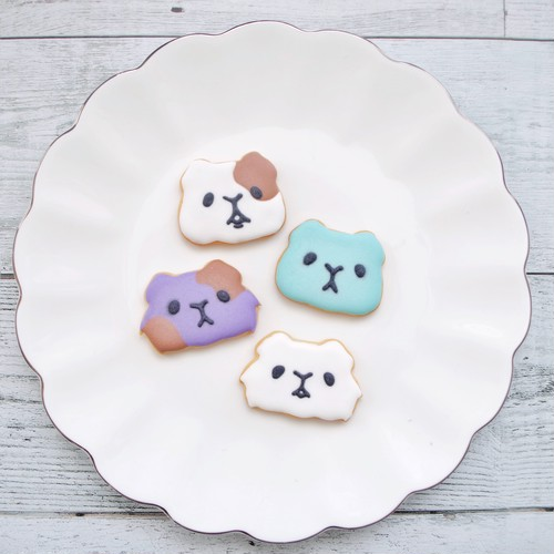 モルモット(顔)のクッキー型 / クッキーカッター