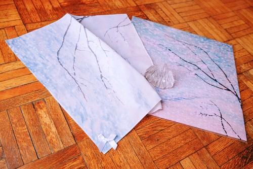 「ポケットに桜吹雪」ハンカチーフ