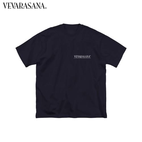 VEVARASANA®︎ BIGシルエットロゴTシャツ ネイビー