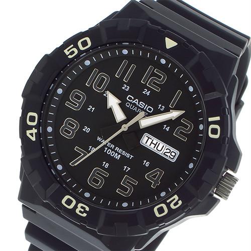 カシオ CASIO ダイバールック DIVER LOOK クオーツ メンズ 腕時計 MRW-210H-1A ブラック ブラック