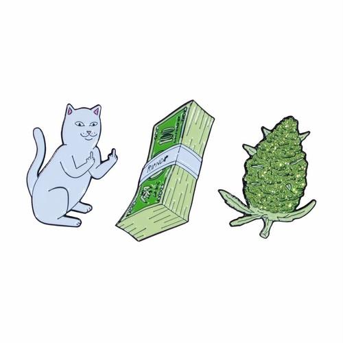 RIPNDIP - Pu$$y, Money, Weed Pin (Set Of 3)