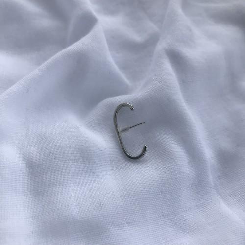 s001_silver925 vero stud pierce (片耳用)