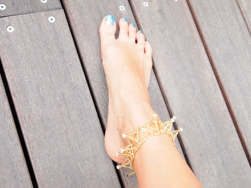 Three-dimensional Toge ANKLET[Gold]