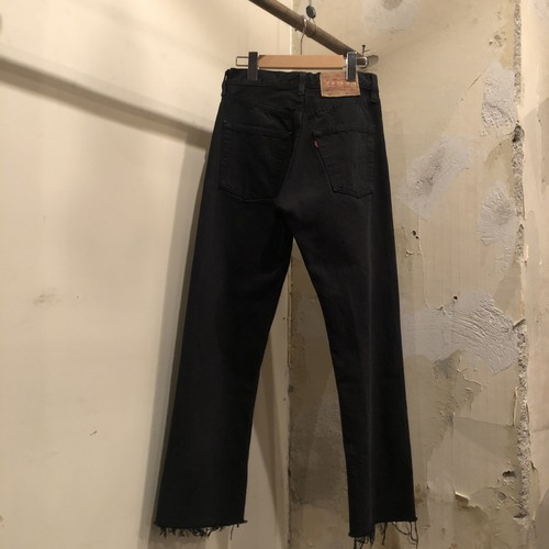 90s  Levi's 501 denim pants black  / Euro