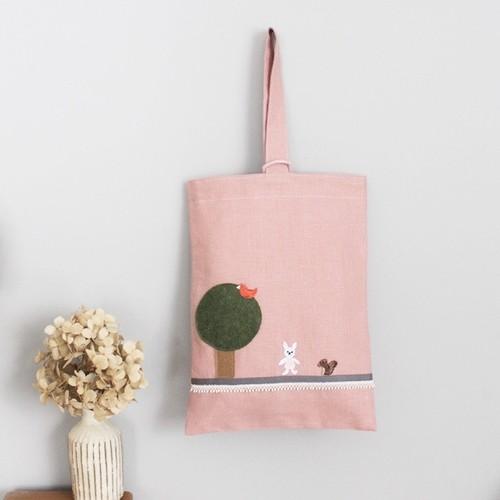 つばめの家オリジナル「お家に帰ろうシリーズ」靴袋 ピンク