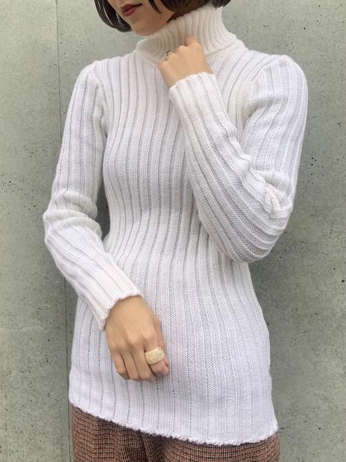 (TOYO) turtle neck lib knit
