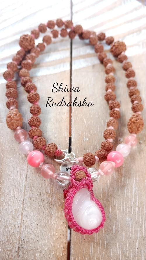 【入魂儀式済】5&3面★ミラクルケオンのネックレス(ピンク)