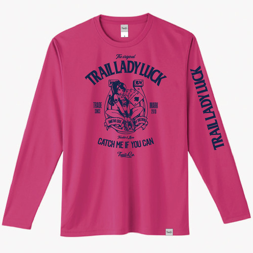 【在庫限りで販売終了】Dry Long Sleeve T-Shirt / TLL / Hot Pink