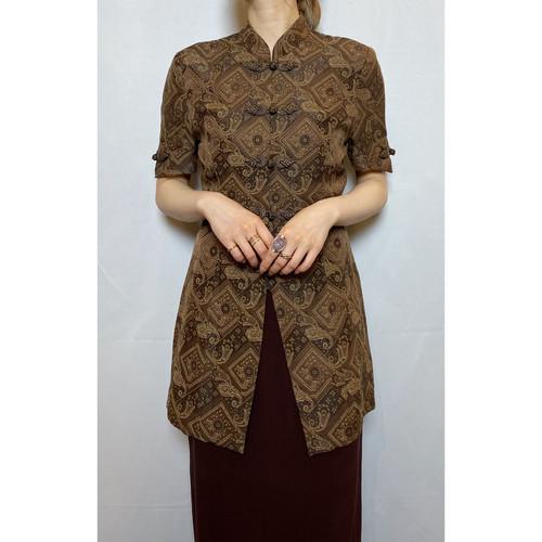 s/s overall pattern china shirt