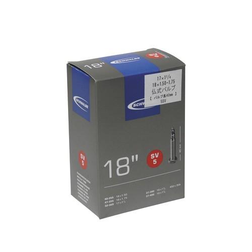 "Schwalbe 5SV 仏式40mm 17/18""/18x1.50/1.75 、17x1-1/4"