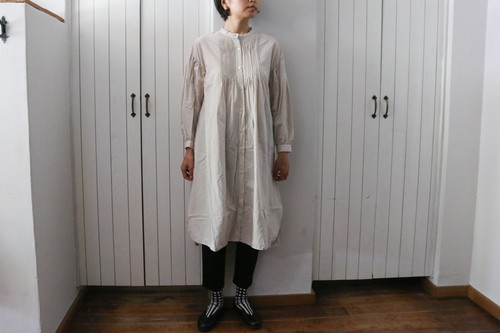 Gauze#_100/HIGH COUNT COTTON PIN TUCK ONE PIECE/FREEサイズ