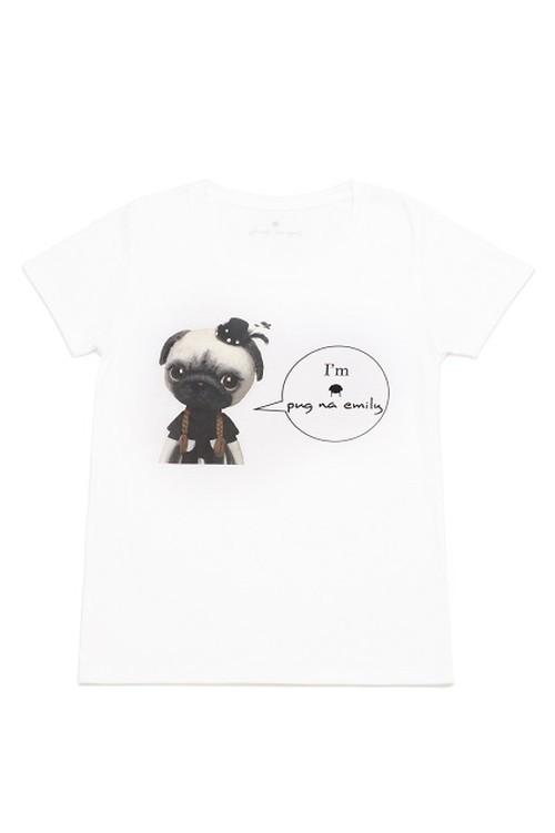 パグなTシャツ(白)