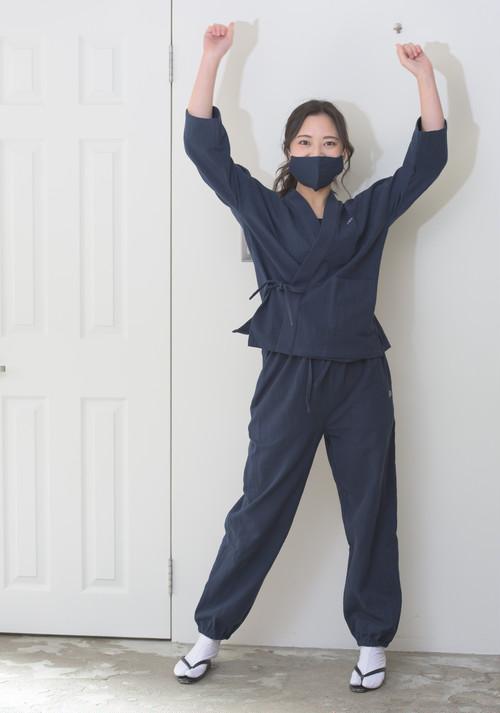 【七分袖】みほとけ作務衣(中厚/M/紺色)