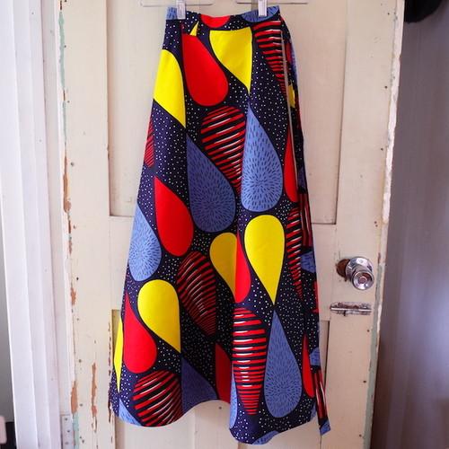 アフリカンプリント 巻きスカート colorful drops