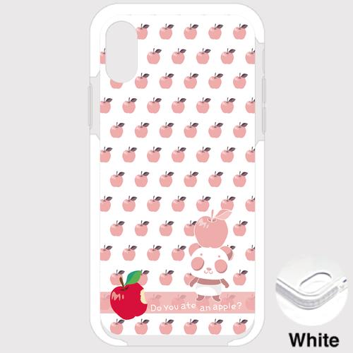 B*iPhone XSMax/8Plus/7Plus*9-19Pxリンゴを食べたのは誰?*ピンク**クッションバンパーケース