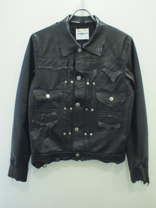 TAKAHIROMIYASHITATheSoloist. rough out work jacket w/embroidery. / sj.0033