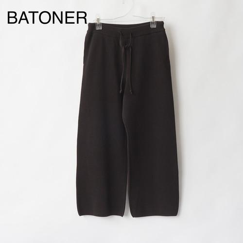 BATONER/バトナー・HIGH COUNT RIB KNIT PANTS