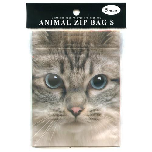 猫ジップバッグ(アニマルジップバッグS)ネコB