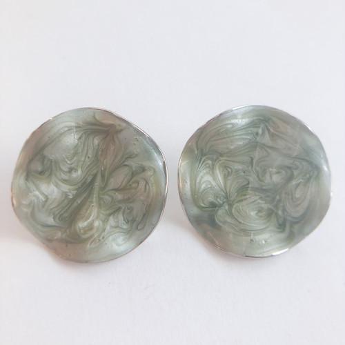 """AVON"" Pearlized Ruffle pierce[p-715] ヴィンテージピアス"