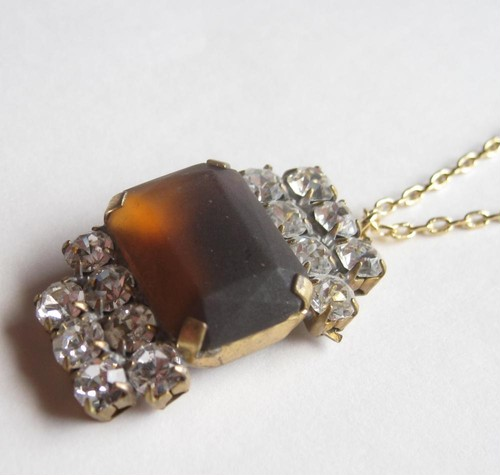 TheDelight antique Czech stone pendant(アンティーク チェコ ストーン ペンダント)④