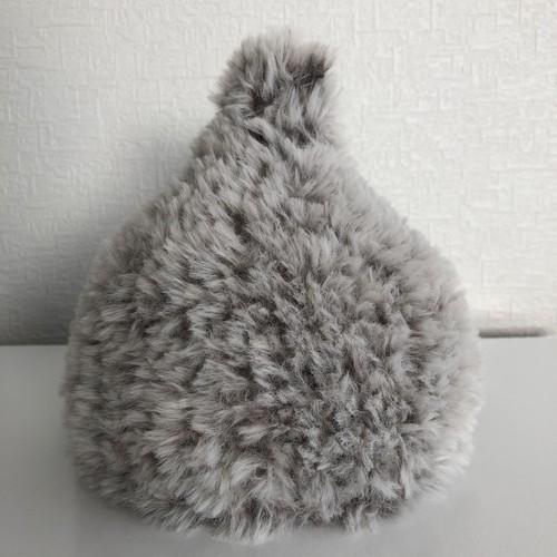 新生児*/フワつんつん帽子/ライトグレー