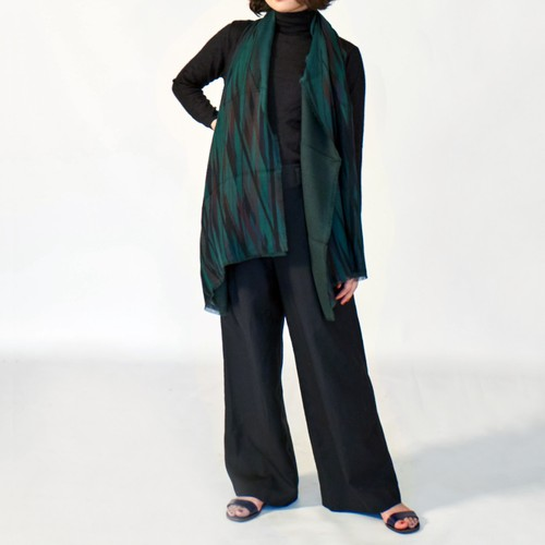 TENCEL DOUBLE GAUZE REVERSIBLE・STAINED GLASS OVER DYE - 2 color