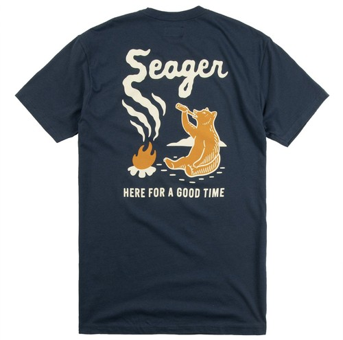SEAGER #Smokey Tee Navy