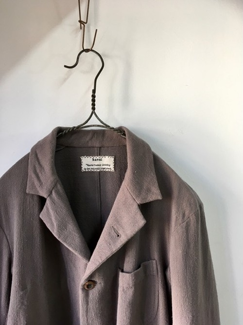 "kaval/B&S Special/basic tailored jacket ""khadi cotton vintage cloth""(カヴァルのやわらかくて気持ちいいジャケット)(期間限定販売)"