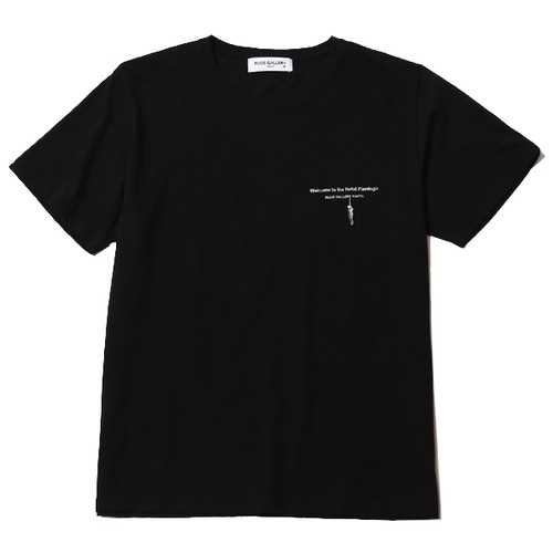 HOTEL FLAMINGO TEE - THEME (BLACK) / RUDE GALLERY