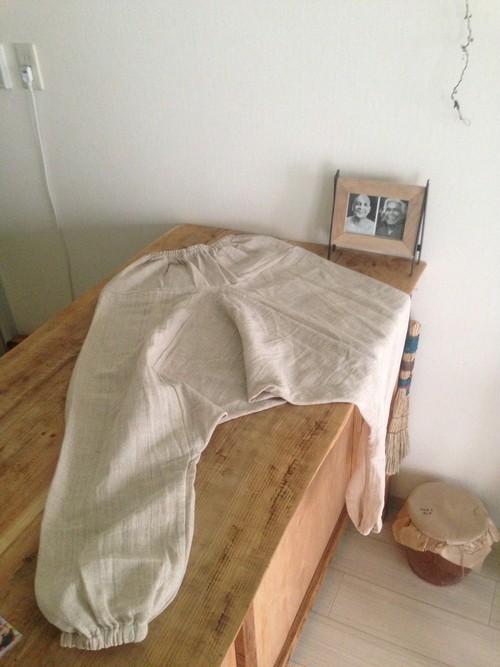 オーガニックヘンプのサルエルパンツ