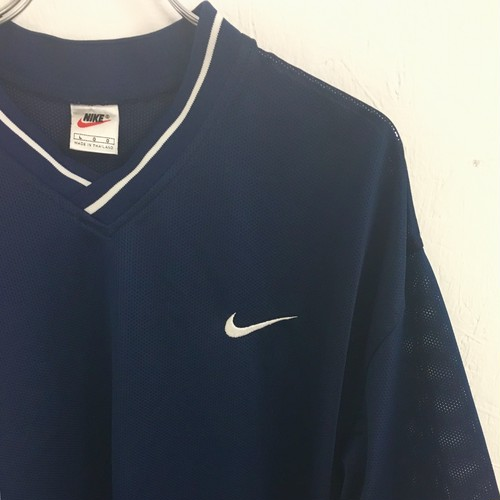 NIKE : rib stlipe game shirt (used)
