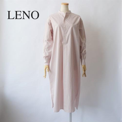 LENO/リノ・BAND COLLAR PULLOVER DRESS (STRIPE)