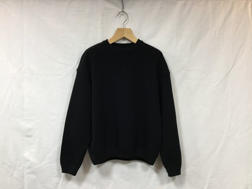 "crepuscule "" Womens Moss stitch L/S sweat "" Black"