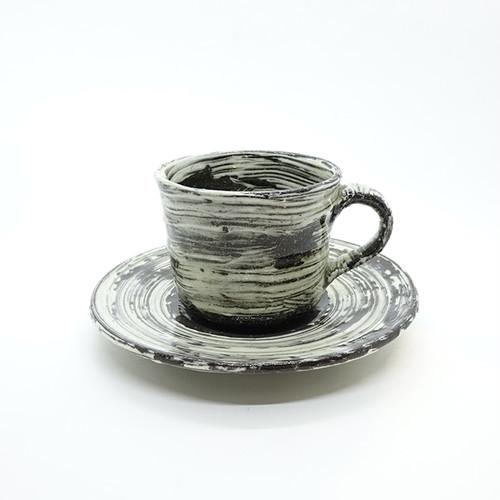 刷毛目カップ&ソーサ―【藤村拓太】