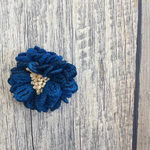 お花のパーツ (ブルー)