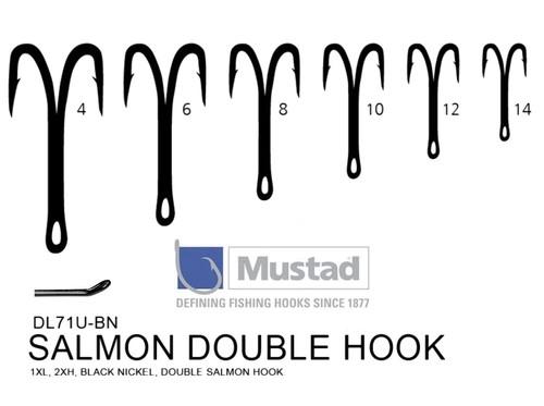 MUSTAD Double Salmon Hook DL71U BN