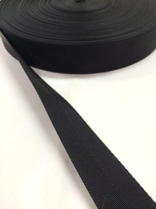 ナイロン 杉綾織(綾テープ) 30mm幅 黒 1mカット
