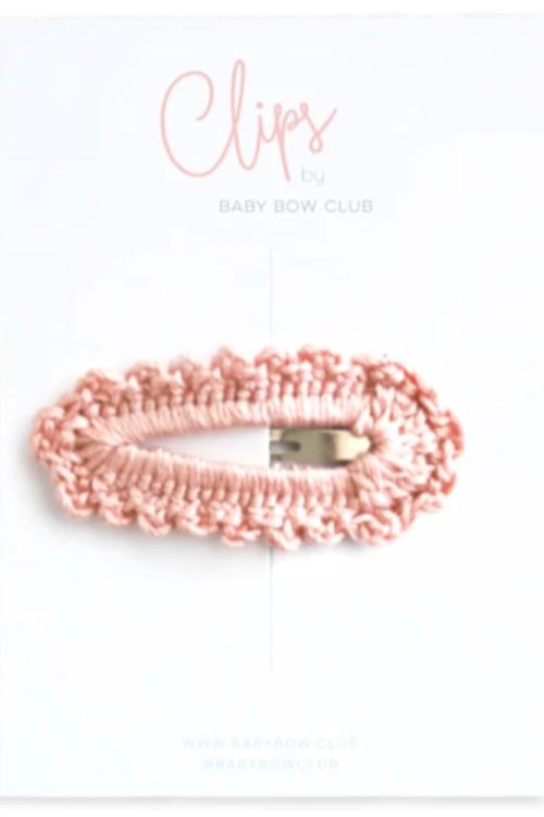 BABY BOW CLUB Crochet Clip // blossom
