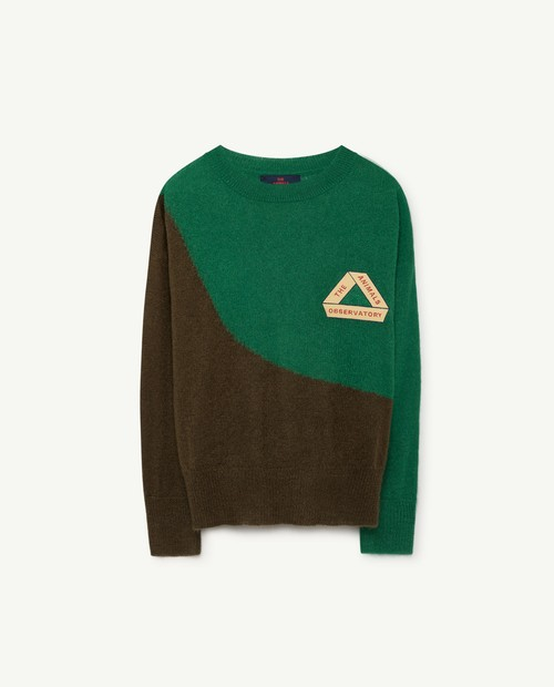 TAO(THE ANIMALS OBSERVATORY)Bicolor Bull Sweater GR